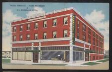 POSTCARD FLINT MI/MICHIGAN BERRIDGE TOURIST HOTEL BUILDING