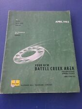April, 1963 Battle Creek, Belleue, Athens Telephone Directory and Yellow Pages