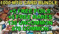 1000x Cards MAGIC THE GATHERING LOT - MTG - Bulk Common/Uncommon+Rares+FOILs