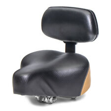 Black Electric Vehicle Bike Scooter Saddle With Back Seat Safety Universal