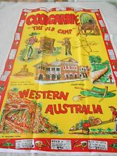 Vintage Souvenir Teatowel 'Coolgardie The Old Camp'  Cotton Brand New & unused