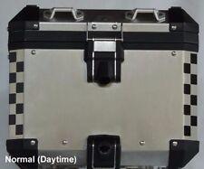 BMW R1200GS 2014+ Adv Truck Top Box Corner Reflective Tape kit BLACK Checkers