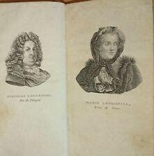 Vie de la Reine de France Marie Lecksinska Princesse de Pologne 1794 Louis XV.