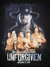 "Wrestling WWE THE UNDERTAKER ""Presents UNFORGIVEN Sept 16, 2007 (XL) T-Shirt"