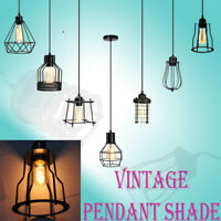 Industrial Style Vintage Metal Cage Wire Frame Ceiling Pendant Light Lamp Shades