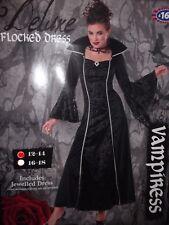 VAMPIRO Gotico Vestito Vampiressa Halloween Taglia 12 - 14 RRP £ 16.99