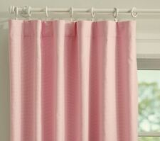 """Pottery Barn Kids Quincy Cotton Canvas Pink Blackout Curtains 44"""" x 63"""""""