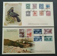 1998 New Zealand Pictorials Centenary Birds Mountains Scenery Stamps FDC (pair)