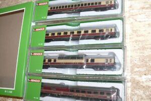 """HS Arnold HN4299  Reisezugwagen  Trans-Europe-Express """"Rheinpfeil"""" DB  4-tlg.Set"""