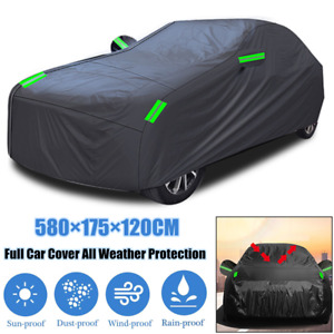 1×Outdoor Full Car Cover Waterproof Heavy Duty Breathable UV Protection Cover XL