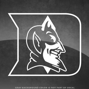 """Duke Blue Devils Logo Vinyl Decal Sticker - 4"""" Size and Up - More Colors!"""