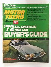 Motor Trend October 1971 Buyers Guide - Pontiac GTO Mustang Boss 351 Camaro Z/28