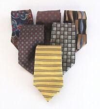 Designer necktie lot (6) Beene,Hilfiger,Cassini,Klein,Cole 1990s all silk EUC