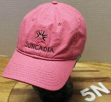 VERY NICE WOMENS SUNCADIA RESORT CLE ELUM WASHINGTON PINK HAT ADJUSTABLE VGC