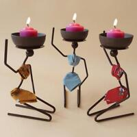 Simple African Woman Style Candlestick Metal Candle Holder Sconce Home Decor