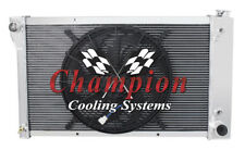 """3 Row Perf Radiator 26"""" Core W/ 16"""" Fan for 1967 - 1972 Chevy C/K Series Pickup"""