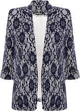 Geblümte Damenjacken & -mäntel aus Polyester ohne Verschluss für die Freizeit