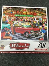 """Wheels """"The Auctioneer"""" - Jason Taylor Art - 750 Pc Jigsaw Puzzle NEW"""