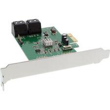 InLine Schnittstellenkarte 4x SATA 6Gb/s mit 4x SATA PCIe 2.0 (PCI-Express)