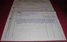 inflation rechnung in gold mark pfister friedrichshafen  alt antik  1923 papier