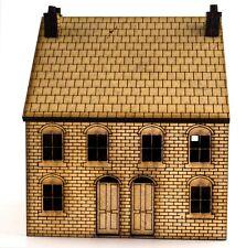 OO Viktorianisches Haus mit Hinterhaus - Lasergeschnitten aus MDF Landschaft