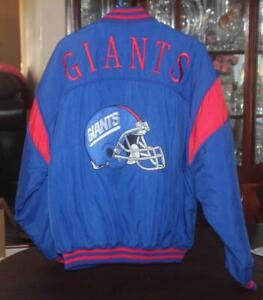 Nutmeg by Campri New York Giants NFL Football Jacket Button and Zipper Size L