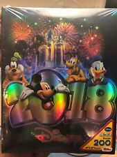 Disney 2018 Dark Blue w/ Silver Year Fireworks 200 Photo Album