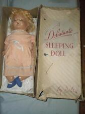 "VINTAGE/ANTIQUE ""A DEBUTANTE SLEEPING DOLL BY DELTA"" DELTA DOLLS LTD. LIVERPOOL"