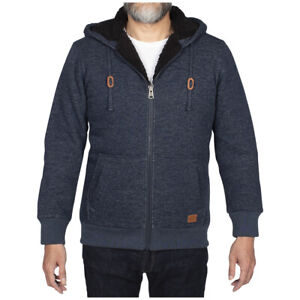 NWT - Mens Buffalo Sherpa Lined Hoodie in Blue Marle - Size XL