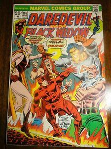 Daredevil #105 Hot Key Origin/2nd Moondragon Starlin Black Widow 1st Pr Marvel