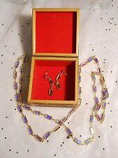 Swarovski® Signed Swan Clear Ab Crystal Bezel Baguette Necklace + Earrings Gold