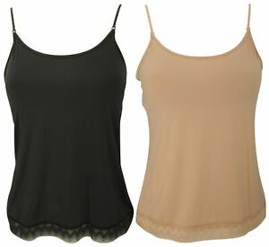 Ex-Store Ladies Hidden Support Camisole with Zig Zag Lace Trim