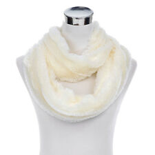 Super Soft Faux Fur Solid Color Warm Infinity Loop Circle Scarf -Diff Colors