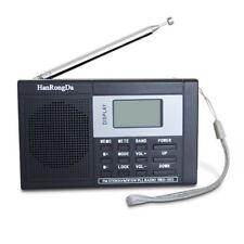 Portable FM/AM/SW Radio Digital Display MP3 Player Recorder USB Charge Interface