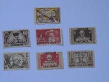 7 Indochina Indochine Vietnam Stamps Overprint