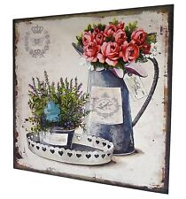 tableau toile peinture imprimée decoration murale de salon cuisine 38x38cm