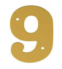 2'' Gold Anodised Numeral 9