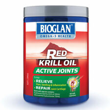 60pk Bioglan RED KRILL OIL ACTIVE JOINTS Soft Caps Capsules Better Than Fish Oil