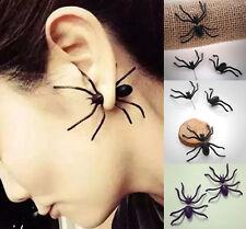 Women's Festival Black Spider Charm Ear Stud Earrings Jewelry Findings Fashion