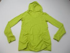 ZELLA Women's Size M Stretch Running Lime Green Long Sleeve Hoodie Pullover