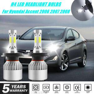 H4 9003 LED Headlight Truck Auto Lamp Bulbs For Hyundai Accent 2006 2007 2008