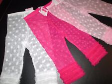 Lace Capri Fancy Leggings by Mud Pie, Pink, White and Hot Pink, Size 5T, NWT