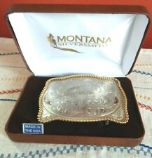 MONTANA SILVERSMITHS Old West Style GERMAN SILVER BELT BUCKLE New with Tags