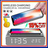 3in1 LED Alarm Clock For Charging Station iPhone Androi Fast Qi Wireless Charger