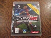 jeu playstation 3 pes pro evolution soccer 2009