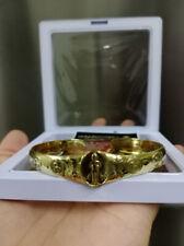 Bracelet Brass Ai Kai Kuman Thong Wat Jedee Talisman Lucky Gamble Thai Amulet
