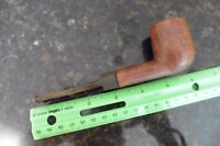 Vintage pipe wooden burl straight grain imported briar pipe
