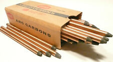 """CARBON ARC RODS for 35mm FILM PROJECTION - 1 BOX of  10mm x 9"""" NATIONAL NEGATIVE"""
