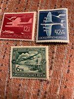 Germany Mi 866-8 Sc B252A-C WWII 3rd Reich War Airmail Lufthansa MOGH