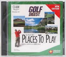Golf Digest Best Places to Play CD-ROM for Windows PC CD Brand New and Sealed